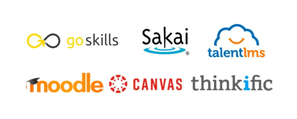 Logos of Open edX Competitors